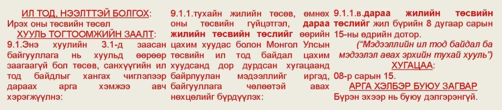 # Ireh onii tusviin tusul (08.15) A,N,S,D +B